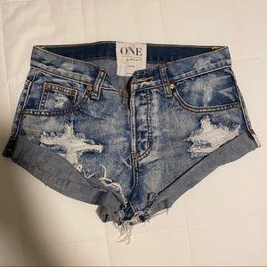 One Teaspoon jeans shorts model bandits
